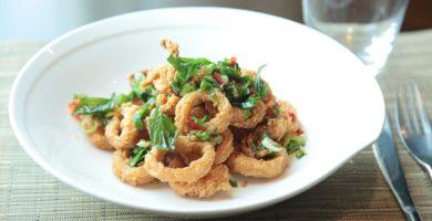 Rabas o calamares fritos